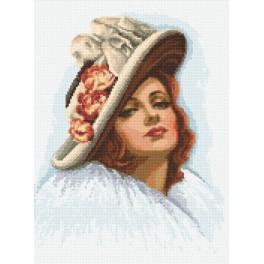 Aida z nadrukiem - Dama w kapeluszu