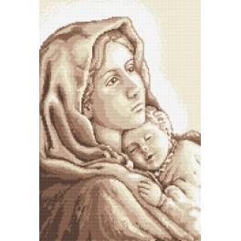 AN 8250 Aida z nadrukiem - Matka Boska cygańska
