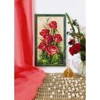 Aida z nadrukiem - Karmazynowe róże