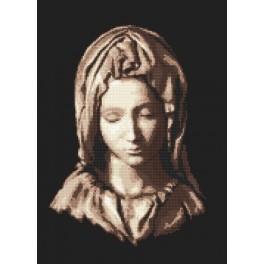 AN 8273 Aida z nadrukiem - Madonna