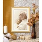 Aida z nadrukiem - Papież Franciszek z dzieckiem