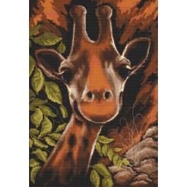 Aida z nadrukiem - Żyrafa w buszu
