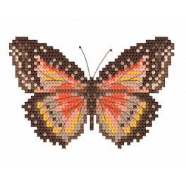 Aida z nadrukiem - Motyl brązowy