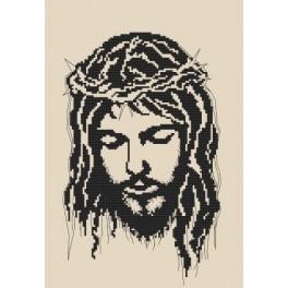 Aida z nadrukiem - Jezus w koronie cierniowej