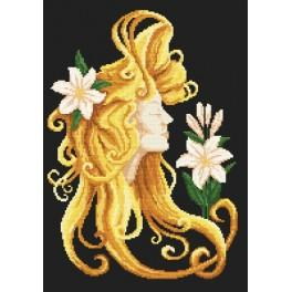 Aida z nadrukiem - Lato we włosach