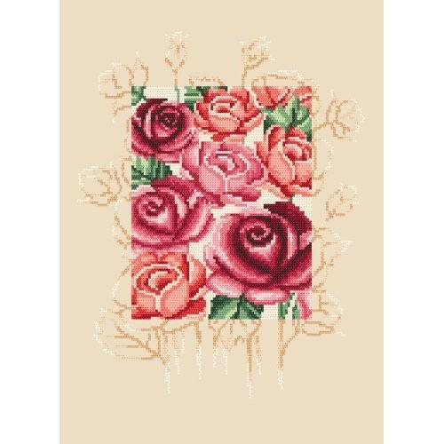 Aida z nadrukiem - Tajemnicze róże