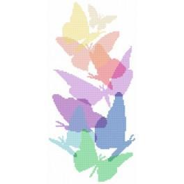 Aida z nadrukiem - Pastelowe motyle