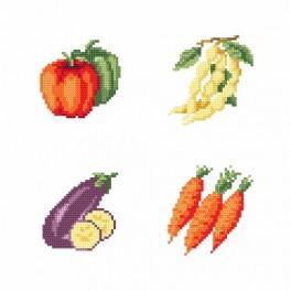 Aida z nadrukiem - Na straganie - Warzywa