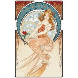 Aida z nadrukiem - Malarstwo wg. A. Mucha