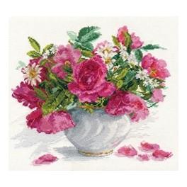 ALI 2-25 Zestaw z muliną - Róże i stokrotki