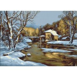 Zestaw z muliną - Zimowy dzień