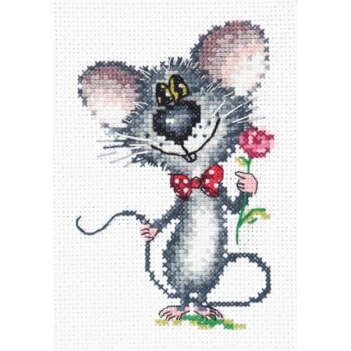 Zestaw z muliną - Mysz z różą