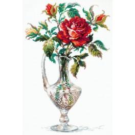 Zestaw z muliną - Czerwona róża