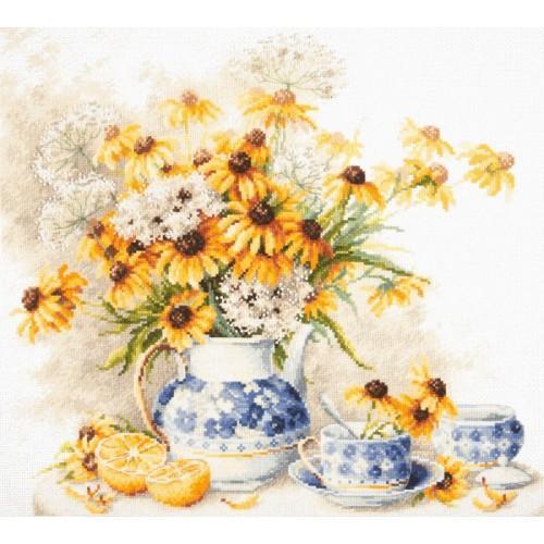 MN 50-08 Zestaw do haftu - Kwiatowa herbatka