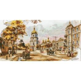 Zestaw z muliną i podmalowanym tłem - Stary Kijów