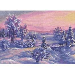 Zestaw z muliną - Zimowy wschód słońca
