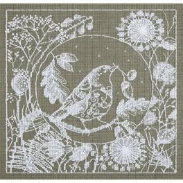 Zestaw z muliną - Koronkowy ptak