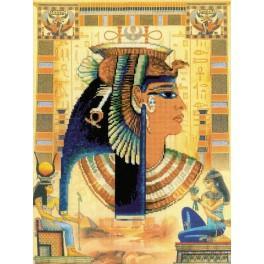 Zestaw z muliną i podmalowanym tłem - Kleopatra