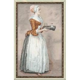 Zestaw z muliną - Kobieta z czekoladą