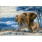 Zestaw z muliną - Słonie na sawannie