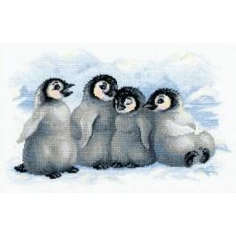 Zestaw z muliną - Radosne pingwiny
