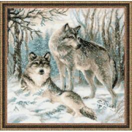 Zestaw z muliną - Para wilków