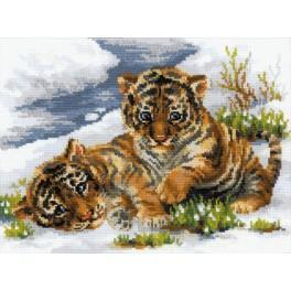 Zestaw z muliną - Tygryski