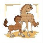 Zestaw z muliną - Koniki
