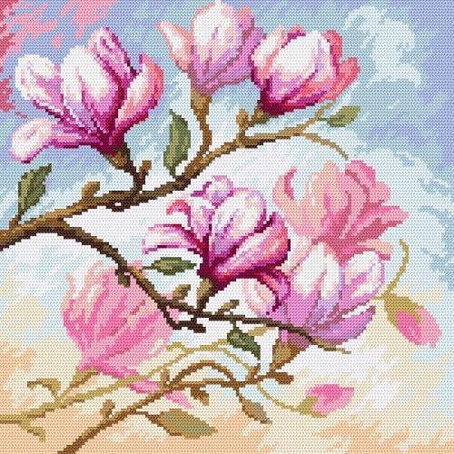 Zestaw z muliną - Kwitnąca magnolia