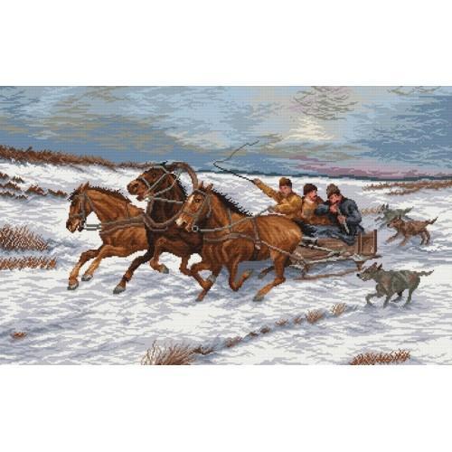Zestaw z muliną - Ucieczka przed wilkami