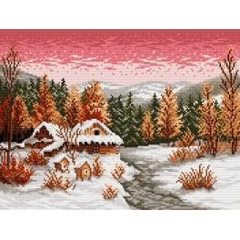Zestaw z muliną - S. Sikora - Zimowy wieczór