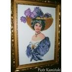 Zestaw z muliną - Kobieta w fioletowej tunice