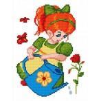 Zestaw z muliną - Dziewczynka z konewką