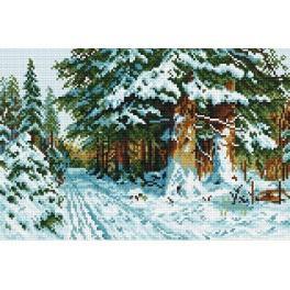 Zestaw z muliną - W zimowym lesie