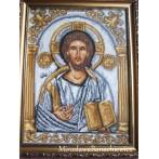 Zestaw z muliną - Ikona- Chrystus Pantokrator