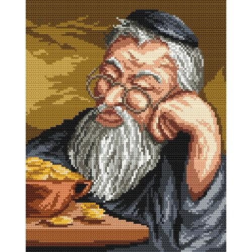 Zestaw z muliną - żyd liczący pieniądze