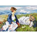 Zestaw z muliną - F. Marc - Dwie dziewczyny na górce