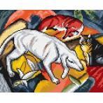 Zestaw z muliną - F. Marc - Pies, lis i kot