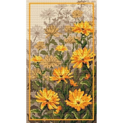 Zestaw z muliną - Kwiaty nagietka