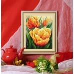 Zestaw z muliną - Pastelowe tulipany