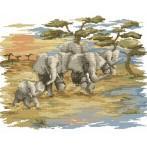 Zestaw z muliną - Pędzące słonie