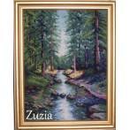 Zestaw z muliną - S. Sikora - Leśny potok
