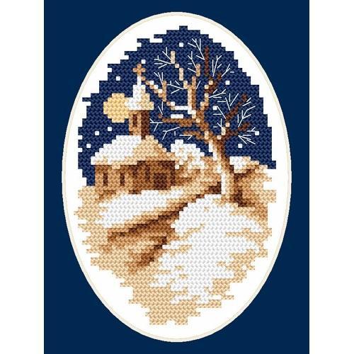 Zestaw z muliną - B. Sikora - Zimowy kościółek
