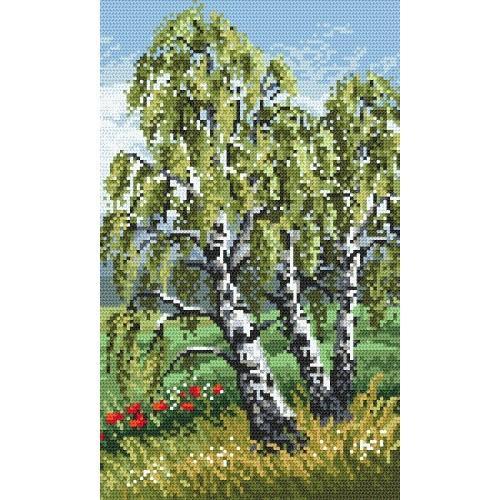 Zestaw z muliną - Tryptyk - Smukłe brzozy