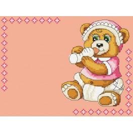 Z 4936-01 Zestaw do haftu - Narodziny dziecka - Dziewczynka