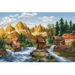 Zestaw z muliną - Młyn nad rzeką