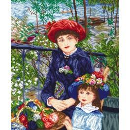 Z 8038 Zestaw do haftu - Dwie siostry - Pierre August Renoir