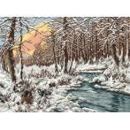Zestaw z muliną - Zimowy potok