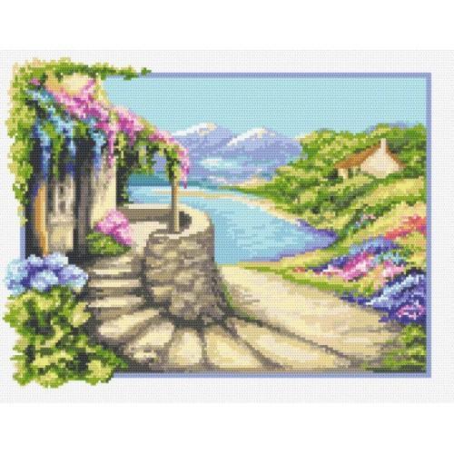 Zestaw z muliną - Włoski pejzaż