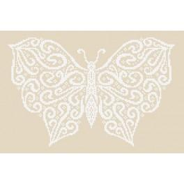 Zestaw z muliną - Zimowy motyl